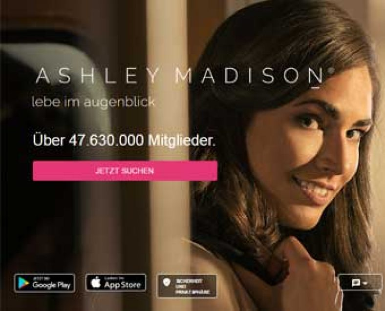 Ashley Madison Webseite