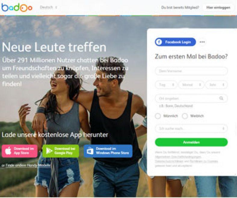Badoo Webseite