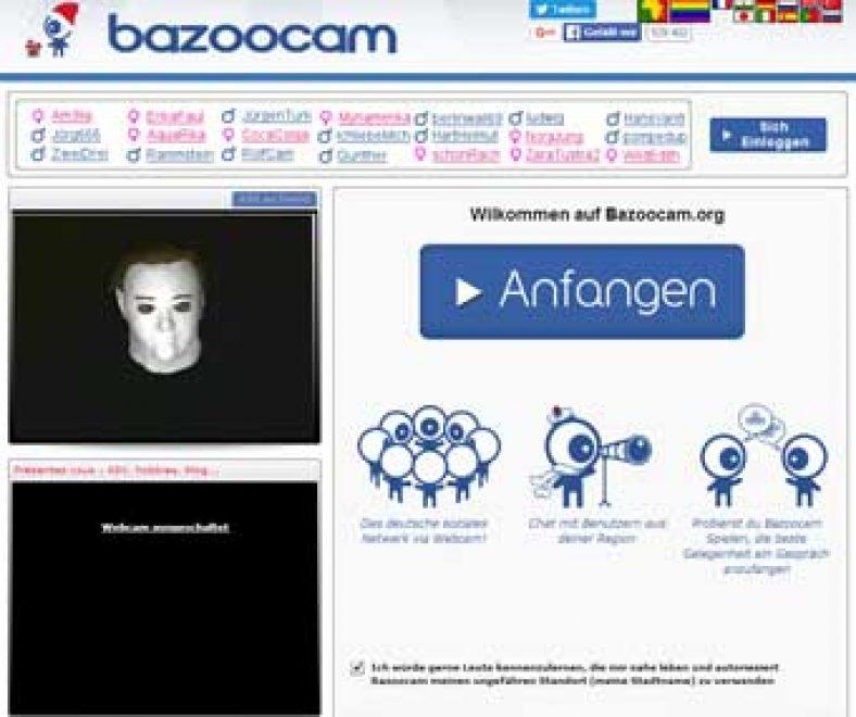 Bazoocam Webseite