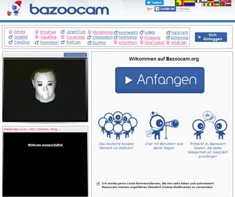 Bazoocam Startseite