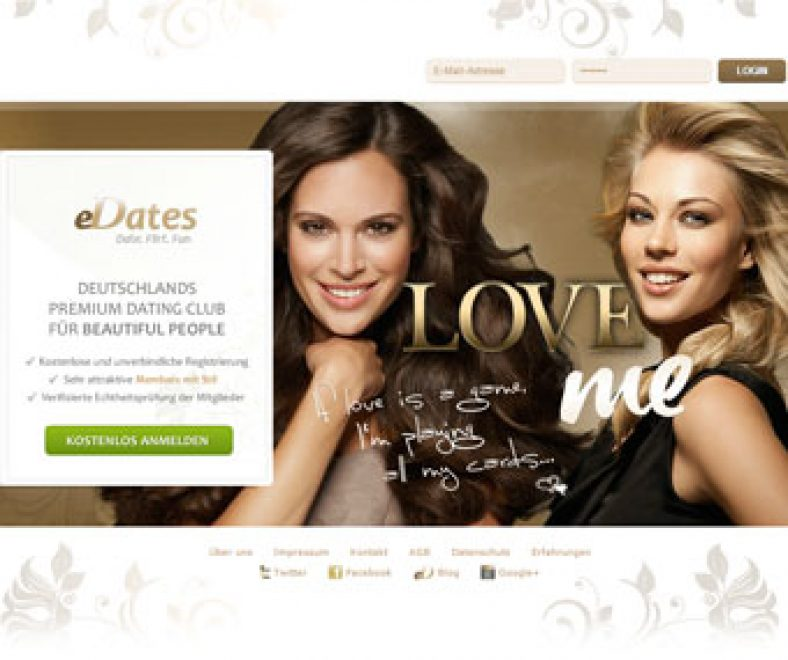 Edates Webseite