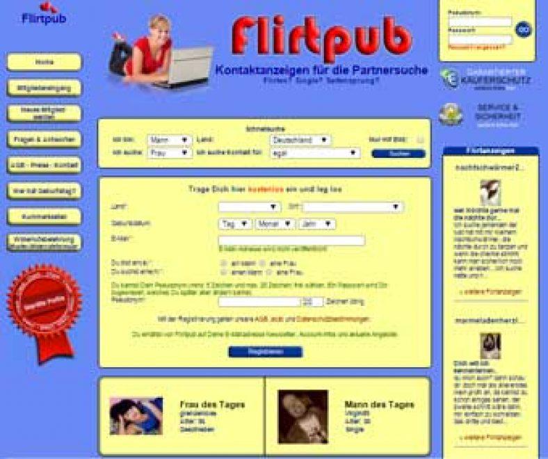 Flirtpub Webseite
