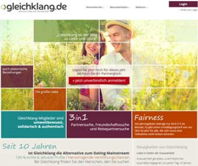 Gleichklang Webseite