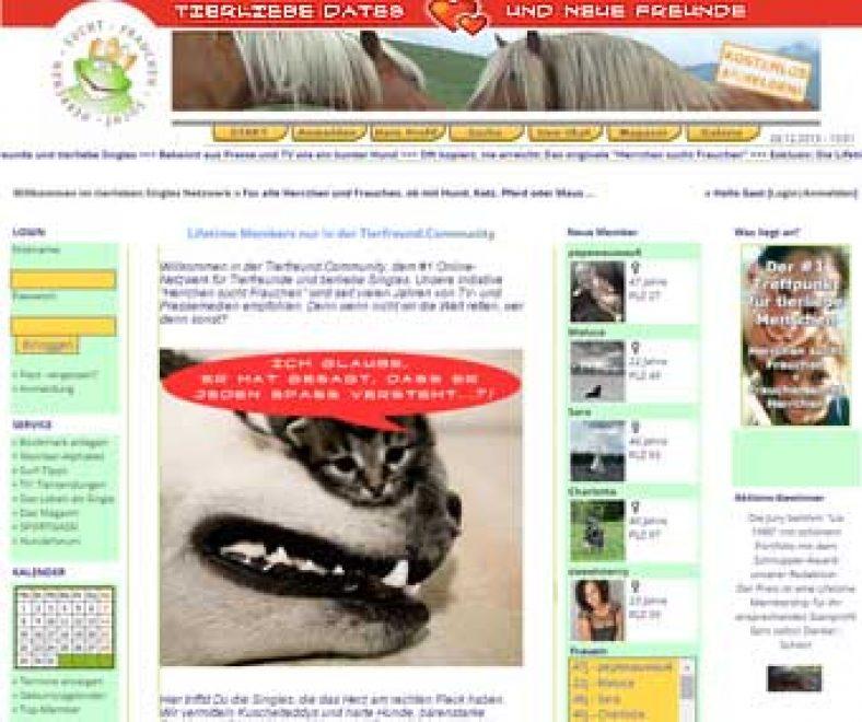 Tierfreund.com Webseite