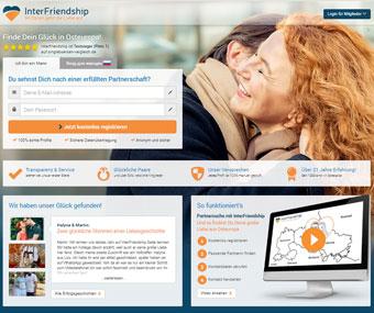 Interfriendship Webseite