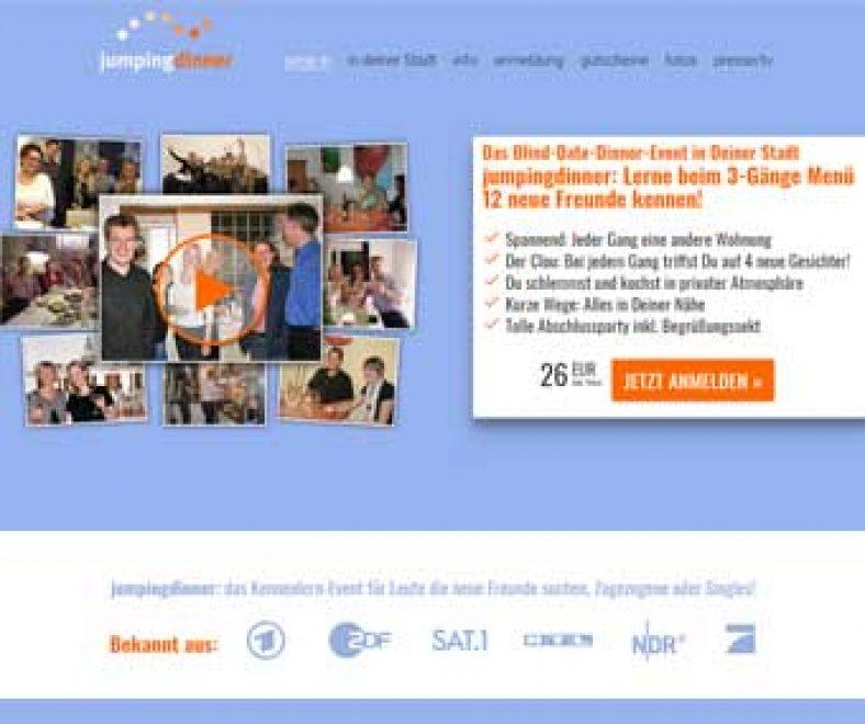 Jumpingdinner Webseite