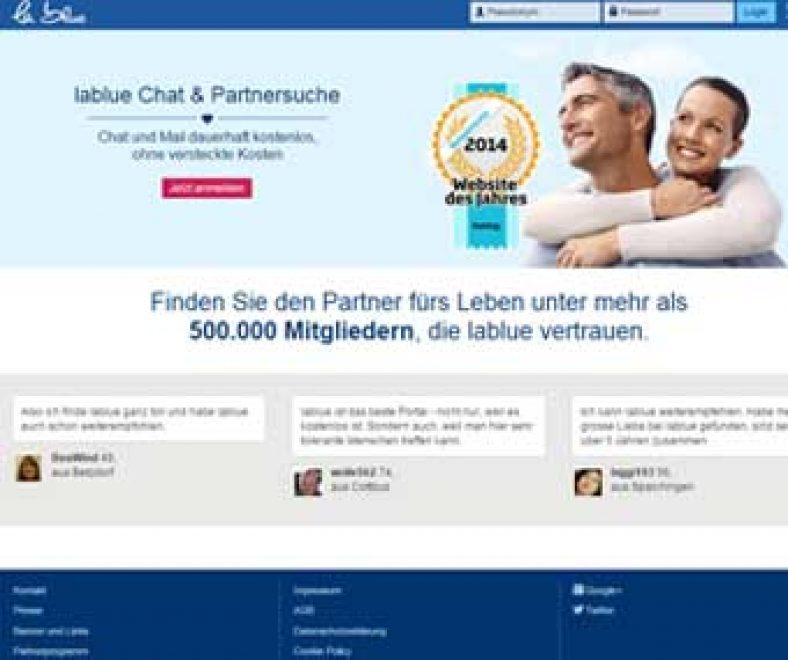 Lablue Webseite