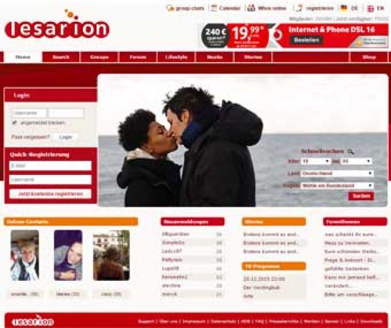 Lesarion Webseite