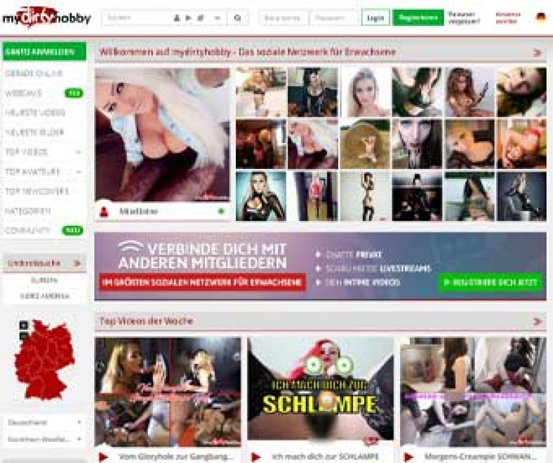 Mydirtyhobby Webseite