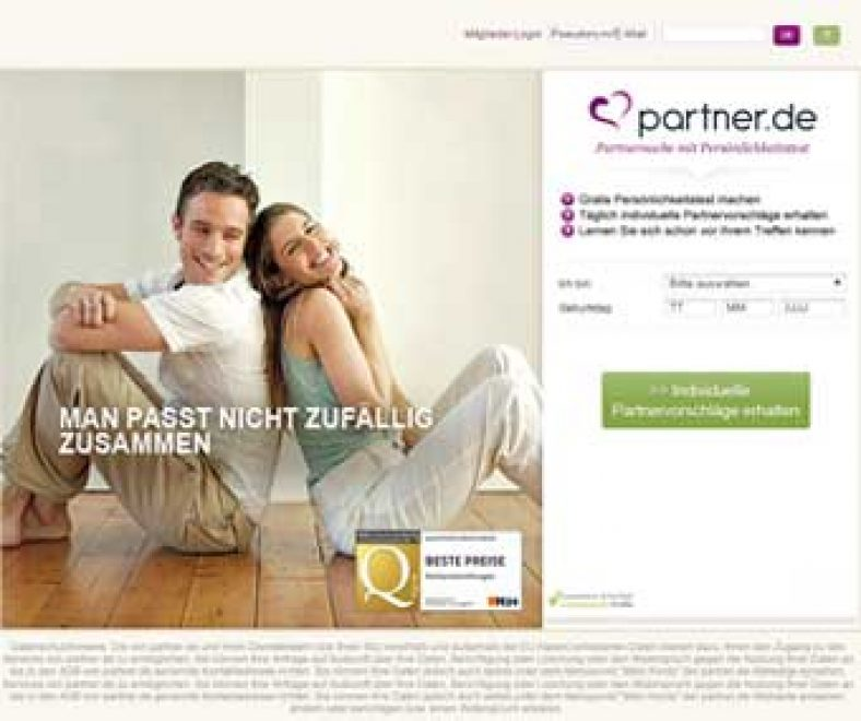 Partner.de Webseite