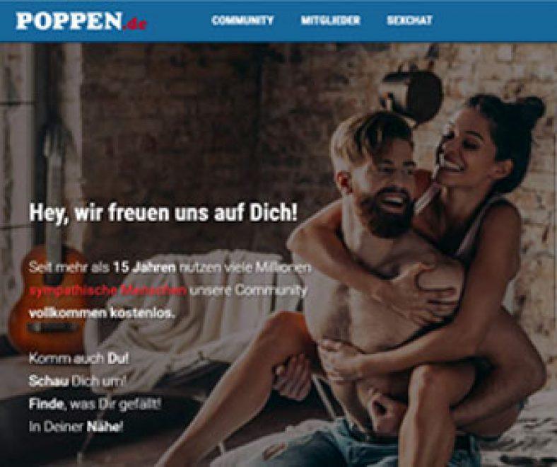 Poppen.de Webseite