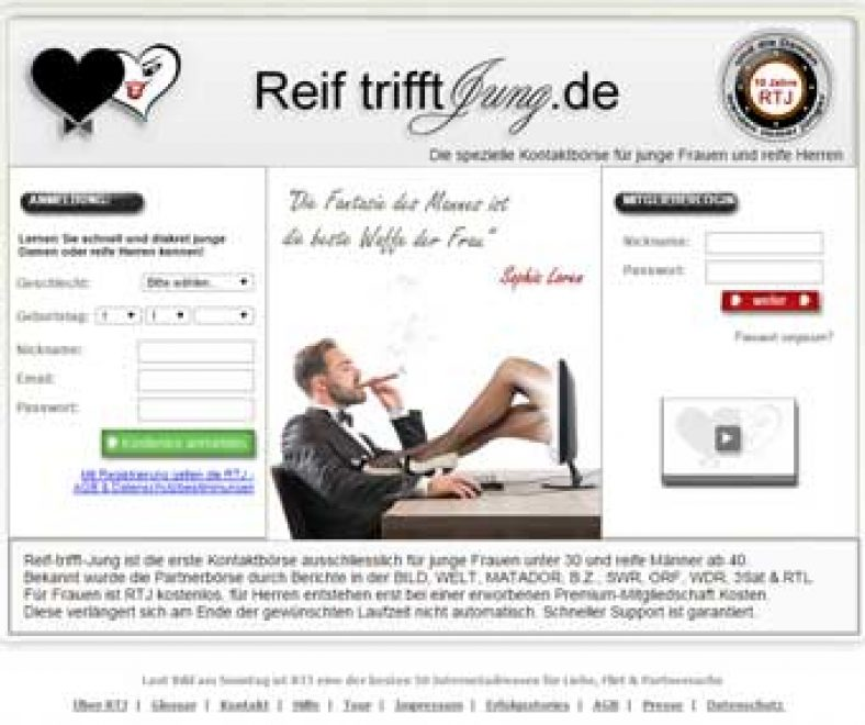 Reif-trifft-Jung Webseite
