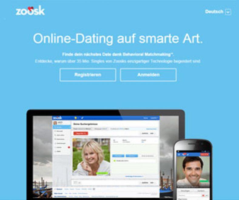 Zoosk Webseite